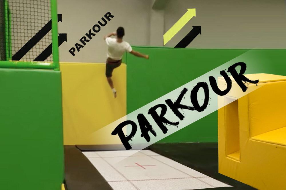 Parkour Fun Jump Trampoline park